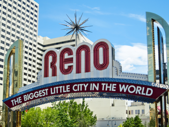 Reno-Tahoe Airport is located 3 miles (6km) from downtown Reno.